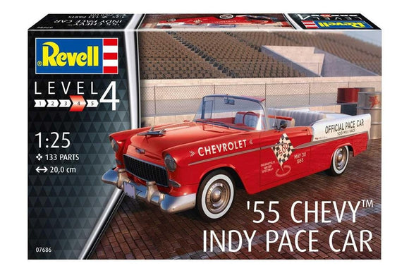 1:24 1955 Chevrolet Bel Air Convertible - Indy Pace Car -- PLASTIC KIT -- Revell
