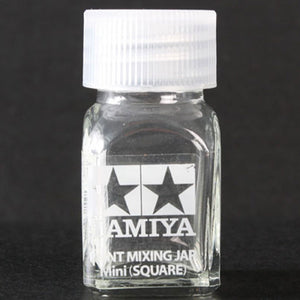 Tamiya Paint Mixing Jar Mini -- Square 10mL (10cc)