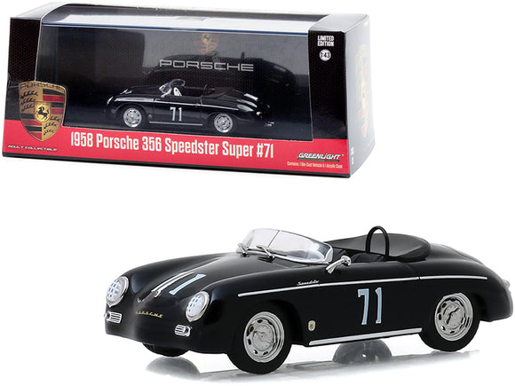 1:43 1958 Porsche 356 Speedster Super -- #71 Race Car -- Greenlight