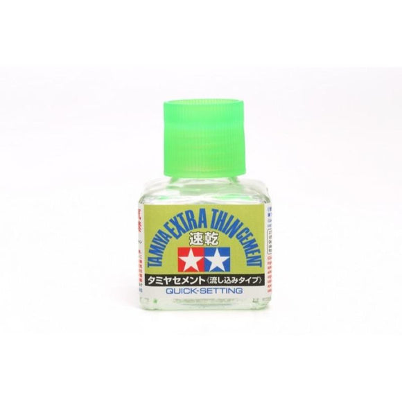 Tamiya Extra Thin Cement (Quick-Setting) (Glue) -- 40mL
