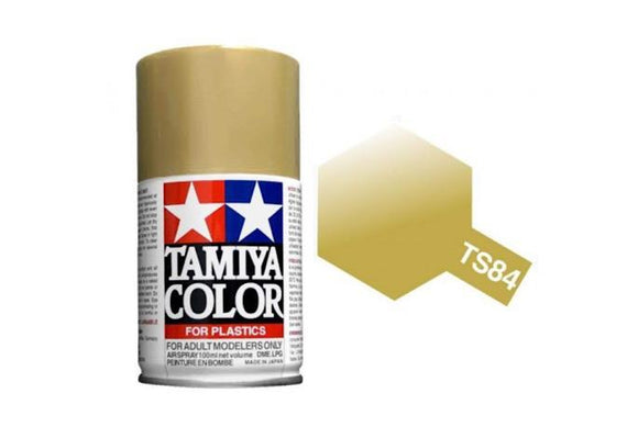 Tamiya Spray Paint (100mL) -- Metallic Gold (TS-84)