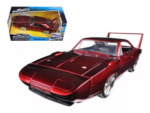 1:24 1969 Dodge Charger Daytona Red -- Fast & Furious JADA
