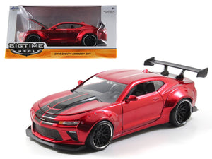 1:24 2016 Chevrolet Camaro SS - Widebody Candy Red -- JADA Bigtime Muscle