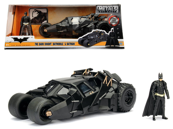 1:24 2008 Batmobile w/Batman Figurine -- The Dark Knight -- JADA