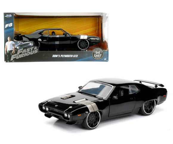 1:24 Dom's Plymouth GTX -- Black -- Fast & Furious