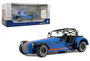 1:18 2014 Caterham 275R Academy -- Metallic Blue w/Orange Stripes -- Solido