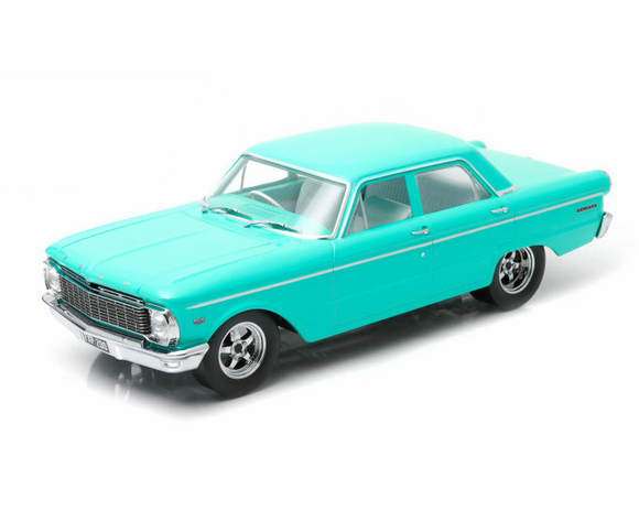 1:18 1965 Ford XP Falcon Sedan -- Custom Teal -- DDA Greenlight