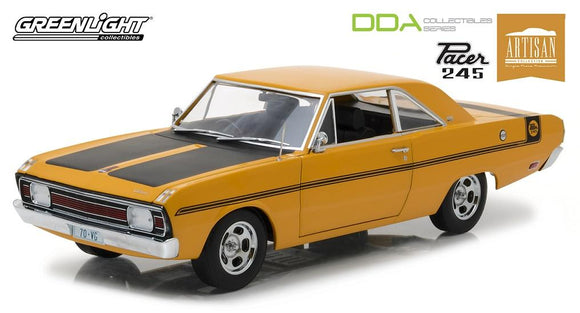 1:18 1970 Chrysler VG Valiant Pacer 245 -- Hot Mustard -- Greenlight DDA