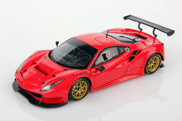1:43 Ferrari 488 GT3 -- Red Plain Body Version -- Looksmart