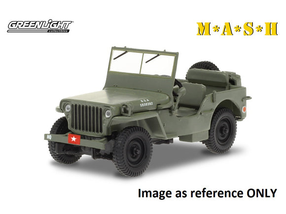 (Pre-Order) 1:18 1942 Willys MB Jeep -- MASH -- Greenlight