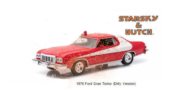 1:64 1976 Ford Gran Torino (Dirty/Weathered Version) -- Starsky & Hutch Greenlight