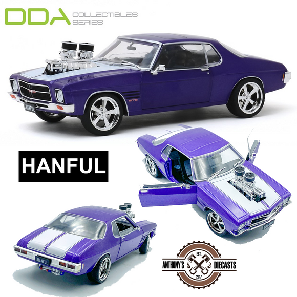1:24 HANFUL -- 1973 Holden Monaro HQ GTS Custom Burnout Car