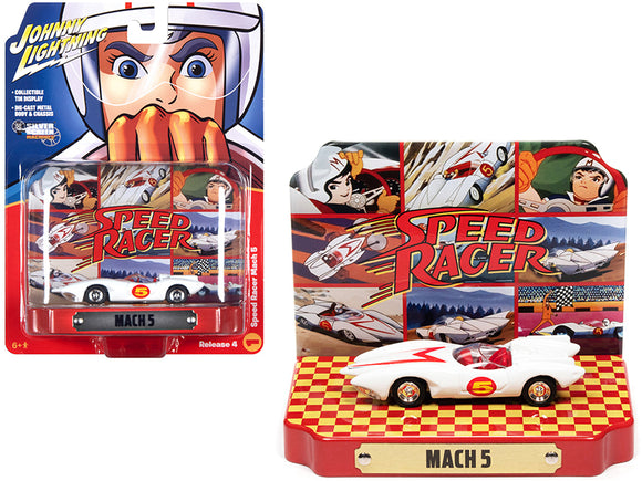 1:64 Speed Racer w/Collectible Tin Display -- Mach 5 -- Auto World