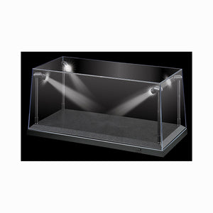 1:18 Display Case w/ 4 Adjustable LED Lights -- Black, Silver or White Base Available