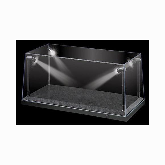 1:18 Display Case w/ 4 Adjustable LED Lights -- Black, Silver or White Base
