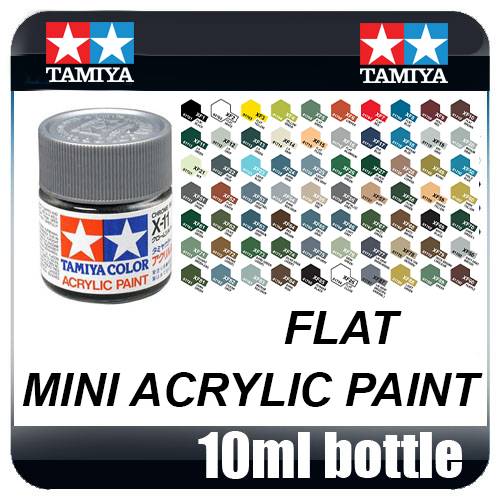 Tamiya Acrylic Mini (10mL) Flat Paint (All Colours Available)
