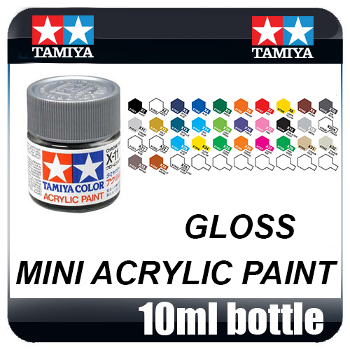 Tamiya Acrylic Mini (10mL) Gloss Paint (All Colours Available)