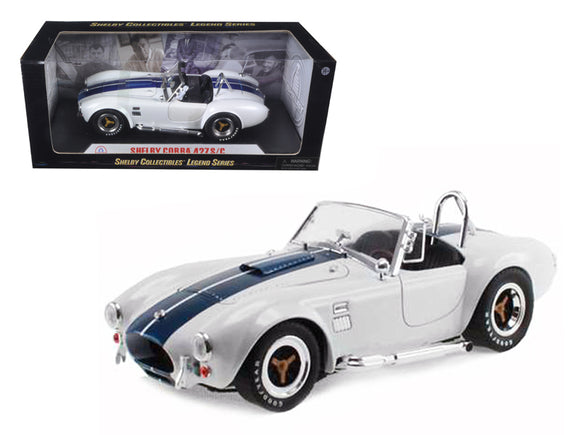 1:18 Shelby Cobra 427 S/C -- White with Blue Stripes -- Shelby Collectibles
