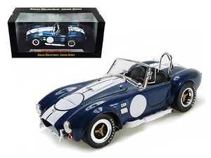 1:18 Shelby Cobra 427 S/C -- Dark Blue with White Stripes -- Shelby Collectibles