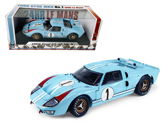 1:18 1966 Ford GT-40 Mk 2 -- Le Mans 24 Hour #1 Ken Miles -- Shelby Collectibles