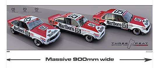 1978, 79, 80 The 'Threepeat' Print -- Peter Brock HDT Commemorative -- Hughes