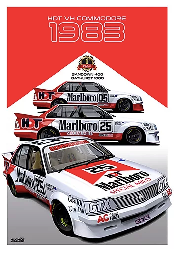 1983 Bathurst Winner Print -- Holden VH Commodore HDT Peter Brock - Peter Hughes