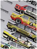 "1980 Bathurst Top 10 ""Nobody's Perfect"" Print - Holden VC Commodore -- Hughes"