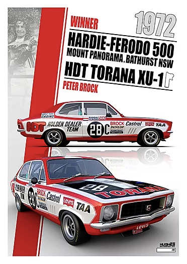 Peter Brock 1972 Bathurst Winner Holden Torana -- Limited Edition Print