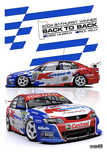 2004 Bathurst Winner Print -- Holden VY Commodore Murphy/Kelly -- Peter Hughes