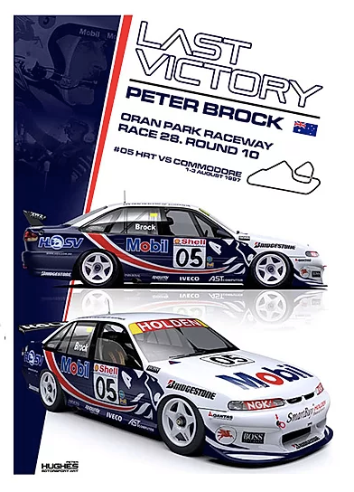 1997 Peter Brock's Last Win -- Holden VS Commodore Print -- Limited Edition