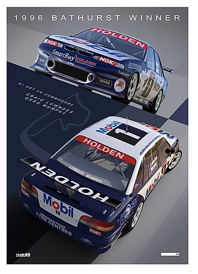 1996 Bathurst Winner -- Craig Lowndes/Greg Murphy HRT Print -- Limited Edition