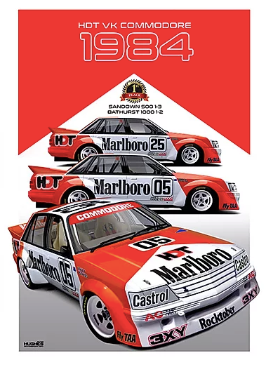 1984 Bathurst Winner Print -- Holden VK Commodore HDT Peter Brock - Peter Hughes