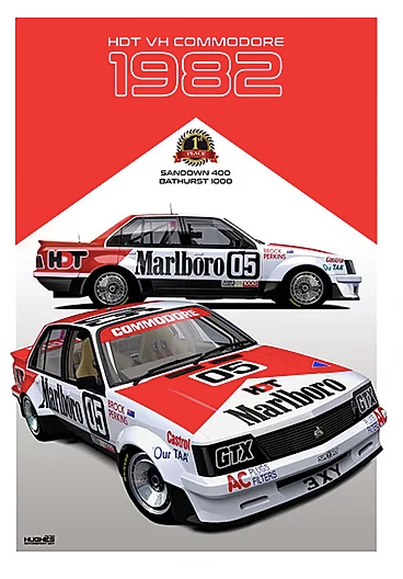 1982 Bathurst Winner Print -- Holden VH Commodore HDT Peter Brock - Peter Hughes