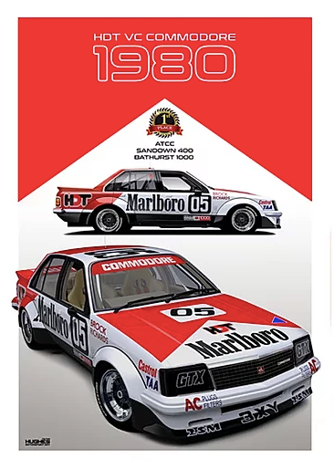 1980 Bathurst Winner Print -- Holden VC Commodore HDT Peter Brock - Peter Hughes