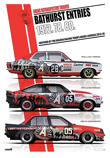 ANZAC Retrospective Print -- Torana, Commodore HRT -- Limited Edition
