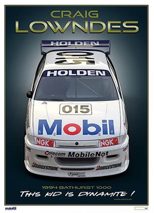 "1994 Craig Lowndes Bathurst ""This Kid is Dynamite"" HRT Print -- Peter Hughes"