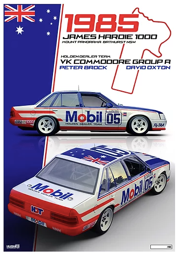 1985 Bathurst Peter Brock/Oxton HDT Print -- Holden VK Commodore -- Peter Hughes