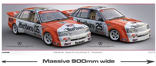 1984 Bathurst 1-2 Print -- Brock/Perkins/Harvey HDT VK Commodore -- Peter Hughes
