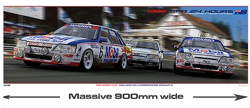 1986 Spa 24 Hours Holden VK Commodore Group A Print -- Peter Hughes