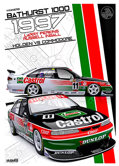 1997 Bathurst Winner Print -- Holden VS Commodore Perkins -- Peter Hughes