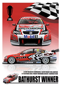 2009 Bathurst Winner Print -- Holden VE Commodore HRT -- Peter Hughes