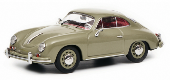 1:43 Porsche 356 A Coupe -- Grey -- Schuco