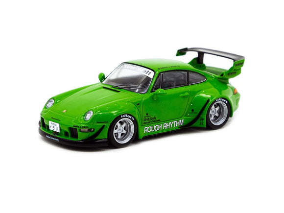 1:43 RWB Porsche 993 -- Rough Rhythm Green -- Tarmac Works