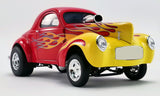 1:18 1941 Willys Gasser -- Red w/Yellow Flames -- ACME