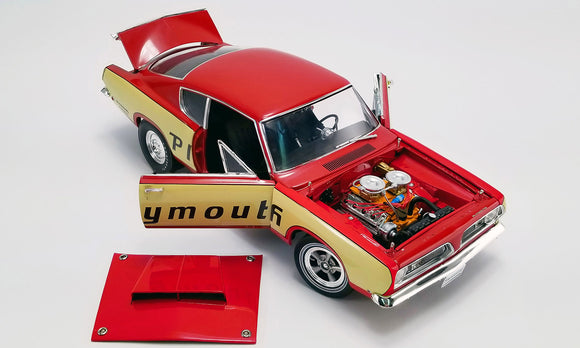 1:18 1968 Plymouth Barracuda -- Super Stock Test Mule Drag Car -- ACME