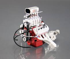 1:18 426 Hemi Blown Engine + Transmission (White Headers) -- ACME