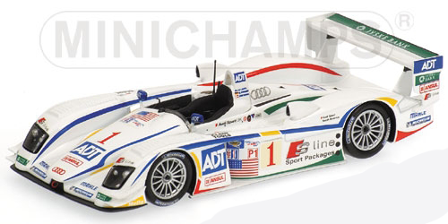 1:43 2005 Sebring 12 Hour Winner -- #1 Audi R8 -- Team Champion -- Minichamps