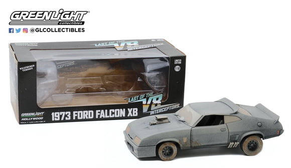 1:18 1973 Ford Falcon XB - Weathered Version V8 Interceptor Mad Max - Greenlight