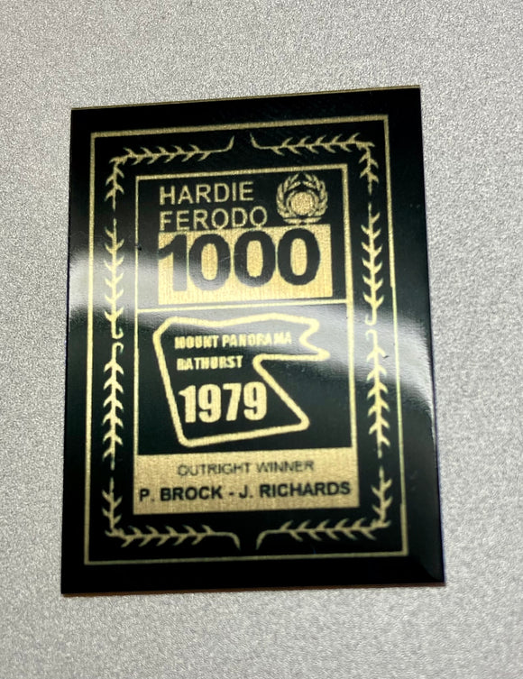 1:18 1979 Hardie-Ferodo 1000 Winner Plaque -- Peter Brock & Jim Richards