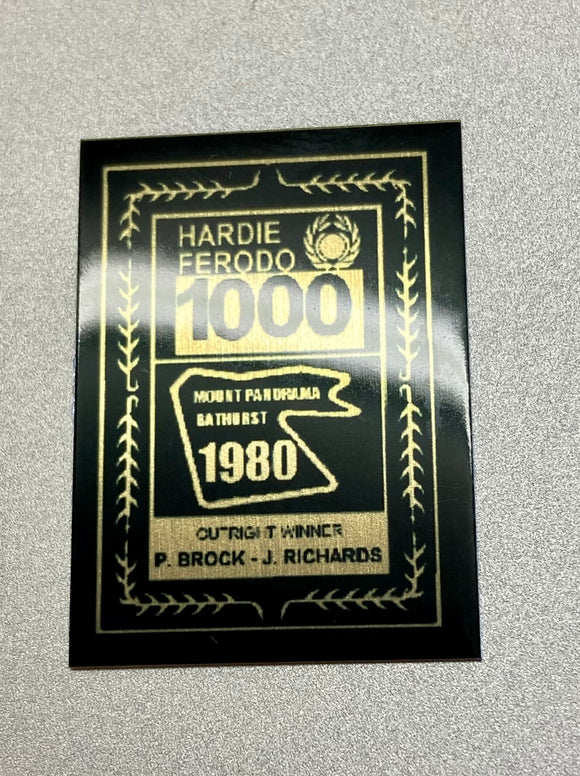 1:18 1980 Hardie-Ferodo 1000 Winner Plaque -- Peter Brock & Jim Richards